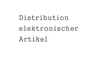 Distribution elektr. Artikel